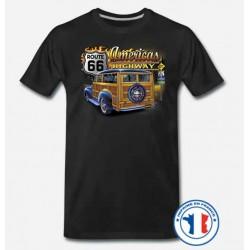 Bikers-Custom : T shirt biker americas highway