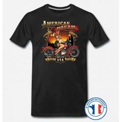 Bikers-Custom : T shirt biker american dream
