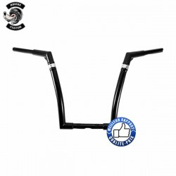 Guidon noir out space in 16 inch rise pour Harley et Custom