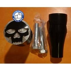 Risers pour Harley et custom motif skull Hauteur 3'