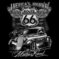 Bikers-Custom : T shirt biker america's highway