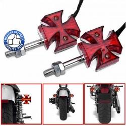 Clignotants croix de malte pour Custom et Harley