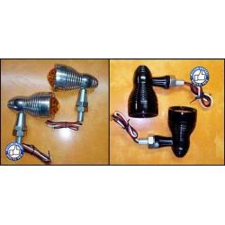 Clignotants moto Geode noir ou chrome Custom et Harley