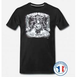 Bikers-Custom : T shirt biker shut up and ride