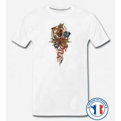 Bikers-Custom : T shirt biker hot rod heartbeat