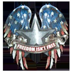 Bikers-Custom : T shirt biker freedom isn't free