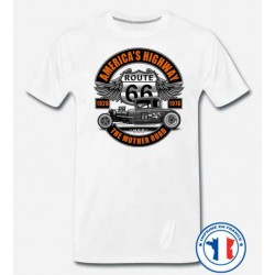 Bikers-Custom : T shirt biker mother road 26-76