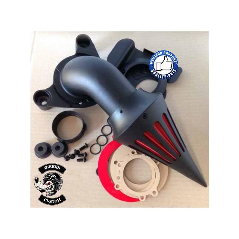 Bikers-Custom : Filtre à air spike noir pour Harley injection de 2008-2012