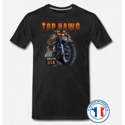 Bikers-Custom : T shirt biker top hawg