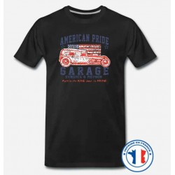 Bikers-Custom : T shirt biker american pride garage