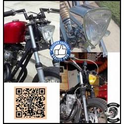 Phare avant chopper Kulture pour Harley, custom