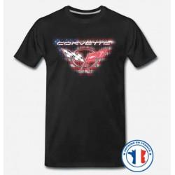 Bikers-Custom : T shirt biker corvette