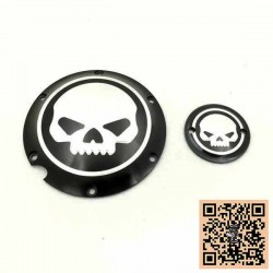 Caches embrayage et allumage skull pour Harley sportster