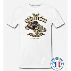 Bikers-Custom : T shirt biker iron hot rod