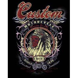 Bikers-Custom : T shirt biker custom indian