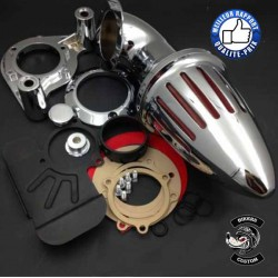 Bikers-Custom : Filtre à air obus pour Harley 2008-2012