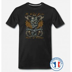 Bikers-Custom : T shirt biker wicket piston